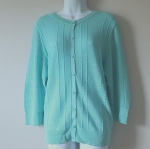 Turquoise Blue Knit Sweater